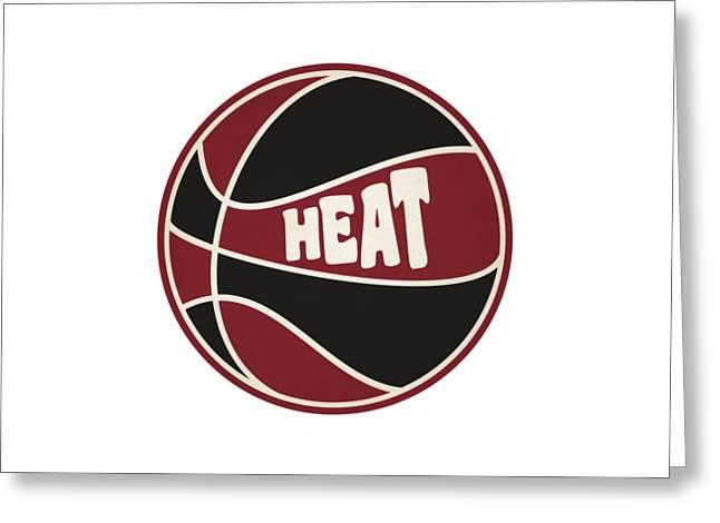 Miami Heat Retro Shirt Greeting Card by Joe Hamilton