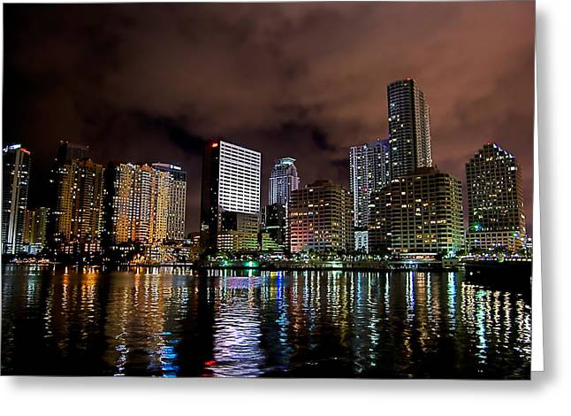 Miami Photographs Greeting Cards - Miami Greeting Card by Nelson Rodriguez