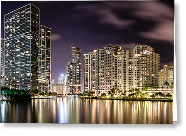 Brickell Greeting Cards - Miami Reflections Greeting Card by Abe Pacana