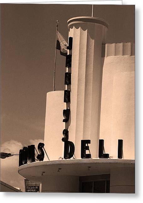 Miami South Beach - Art Deco Greeting Card by Frank Romeo