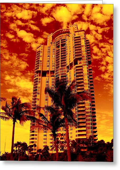 Florida House Greeting Cards - Miami South Pointe III Greeting Card by Monique Wegmueller