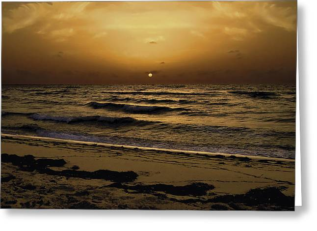 Miami Sunrise Greeting Card by Gary Dean Mercer Clark