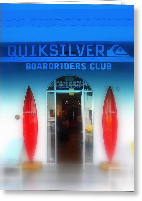 Quicksilver Greeting Cards - Miami Surfing Paradise  Greeting Card by Funkpix Photo Hunter