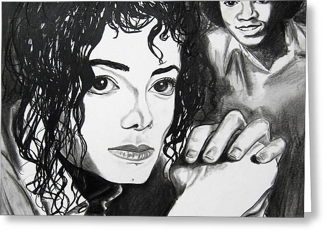 Micael Jackson I Greeting Card by Toni  Thorne