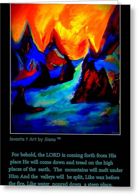 Walking With God Greeting Cards - Micha134 Greeting Card by Siena Blanco