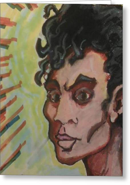 Mix Medium Pastels Greeting Cards - Michael Greeting Card by Derrick Hayes