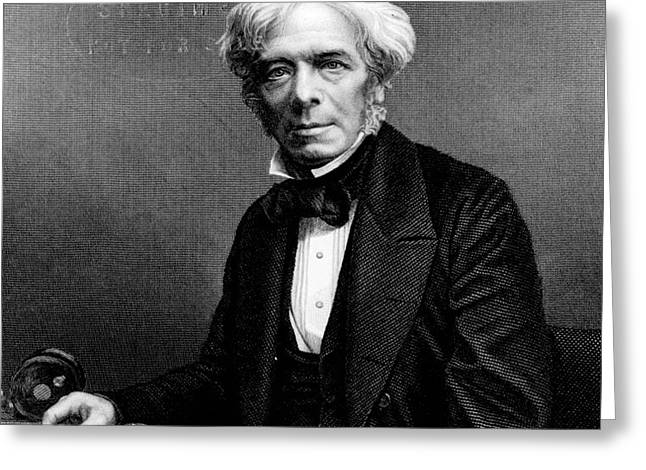 Michael Faraday, English Physicist Greeting Card by Photo Researchers