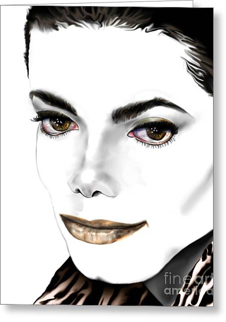 Jacko Greeting Cards - Michael J Greeting Card by Reggie Duffie