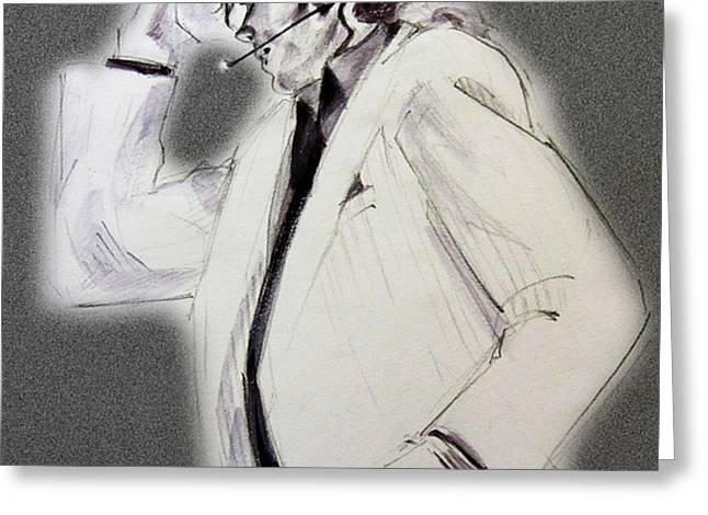 Michael Jackson - Smooth Criminal in TII Greeting Card by Hitomi Osanai