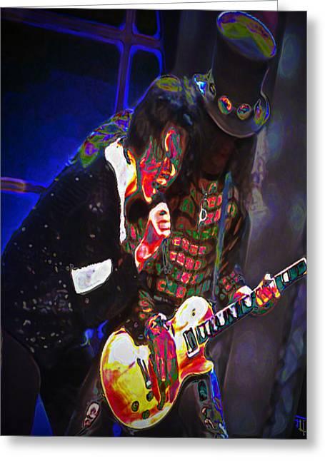 Michael Jackson Greeting Cards - Michael Jackson and Slash Greeting Card by  Fli Art