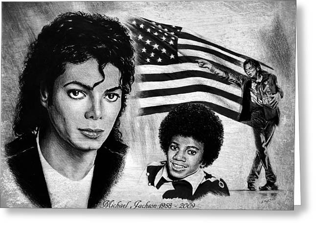 Billie Jean Greeting Cards - Michael Jackson Greeting Card by Andrew Read