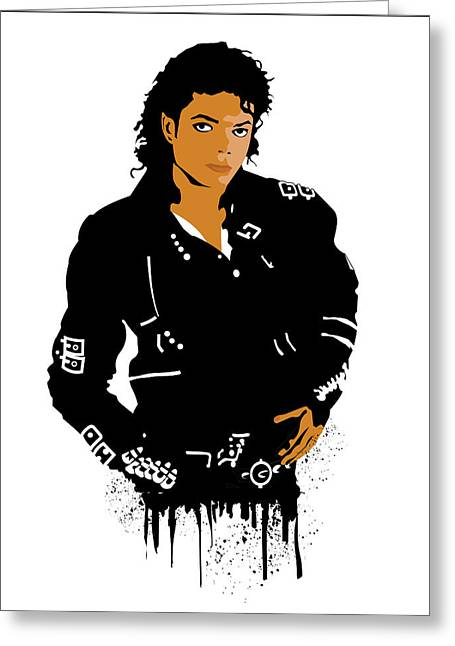 Jacko Digital Greeting Cards - Michael Jackson Bad Greeting Card by Adz Akin