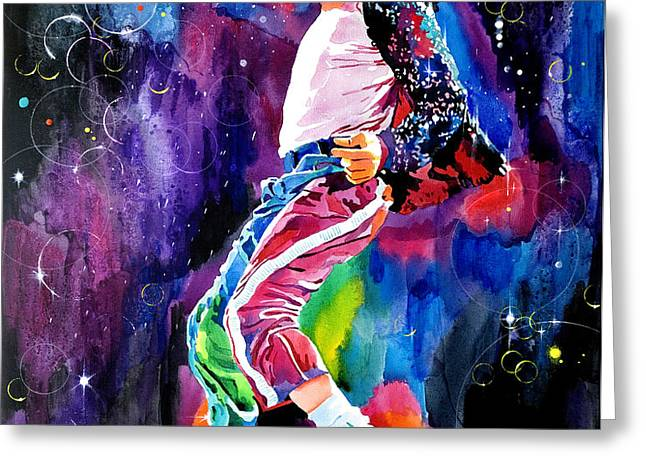 Michael Jackson Dance Greeting Card by David Lloyd Glover