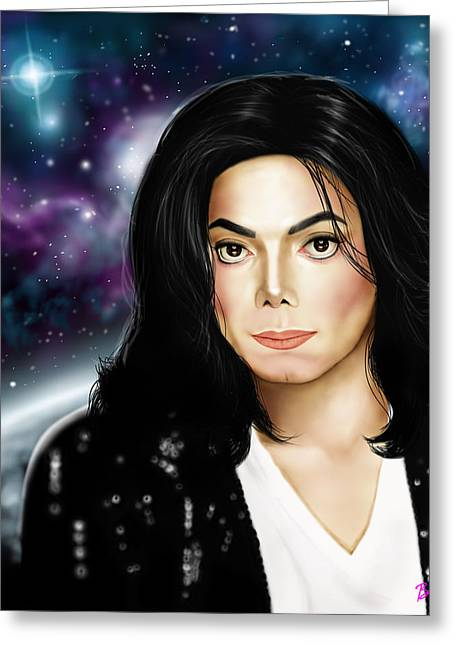 Michael Jackson Greeting Cards - Michael Jackson Greeting Card by Davonte Bailey
