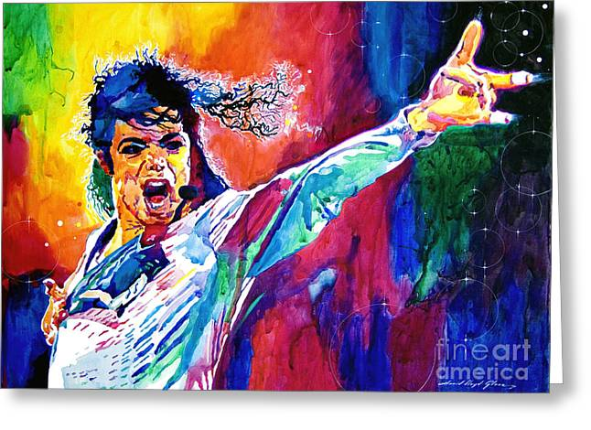 King Of Pop Greeting Cards - Michael Jackson Force Greeting Card by David Lloyd Glover