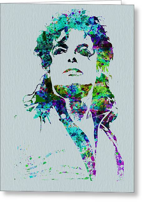 American Singer Greeting Cards - Michael Jackson Greeting Card by Naxart Studio