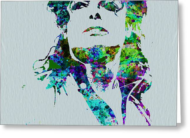 Michael Jackson Greeting Card by Naxart Studio