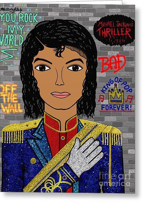 Michael Jackson Greeting Card by Mallory Blake