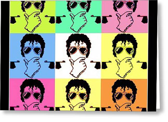 Michael Jackson Pop Greeting Card by Paul Van Scott