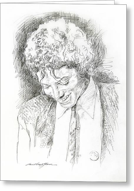 Featured Drawings Greeting Cards - Michael Jackson - Remember the Time Greeting Card by David Lloyd Glover
