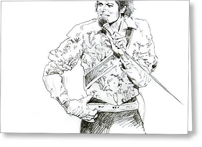 Michael Jackson Royalty Greeting Card by David Lloyd Glover