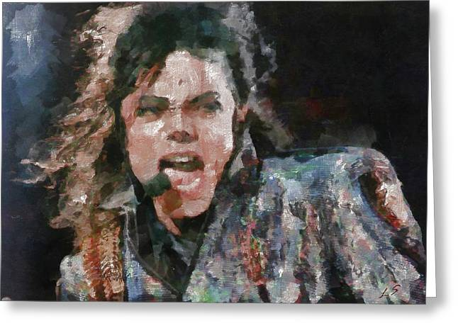 Choreographer Greeting Cards - Michael Jackson Greeting Card by Sergey Lukashin