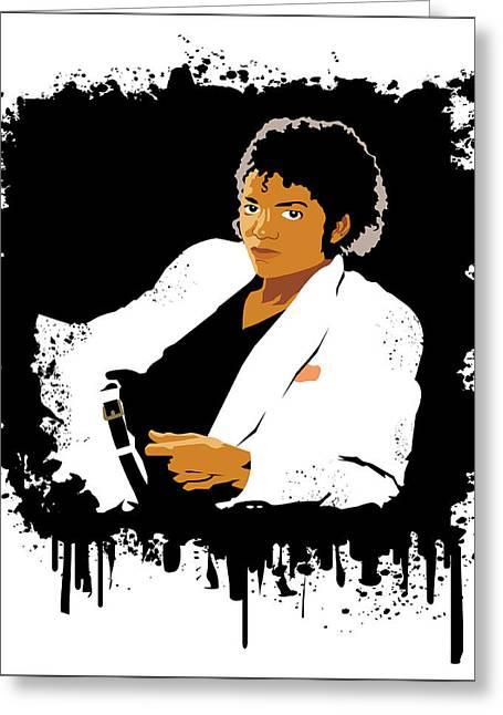 Mj Digital Art Greeting Cards - Michael Jackson Thriller  Greeting Card by Adz Akin