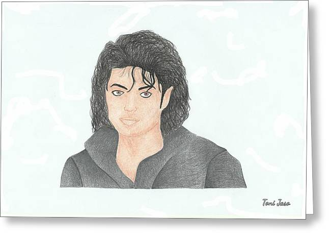 Choreographer Greeting Cards - Michael Jackson Greeting Card by Toni Jaso