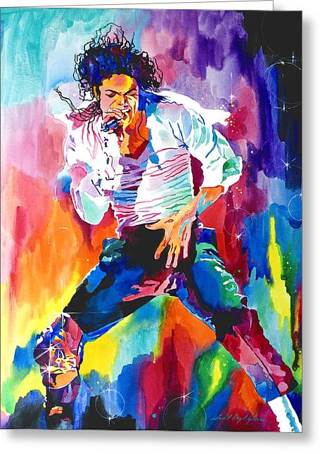 Pop Singer Greeting Cards - Michael Jackson Wind Greeting Card by David Lloyd Glover