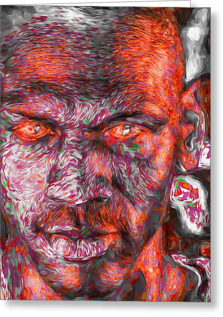 Michael Jordan Digital Painting 2 Greeting Card by David Haskett