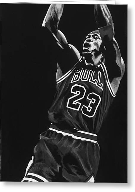 Michael Jordan Greeting Card by Don Medina