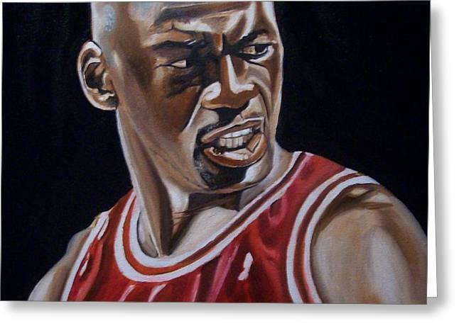 Michael Jordan Greeting Card by Mikayla Henderson