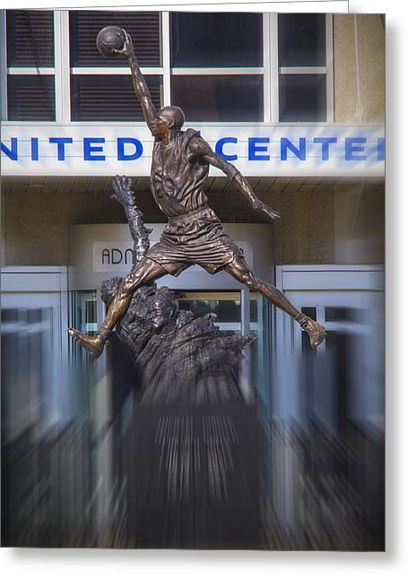 Michael Jordan Photographs Greeting Cards - Michael Jordan Greeting Card by Robert Storost