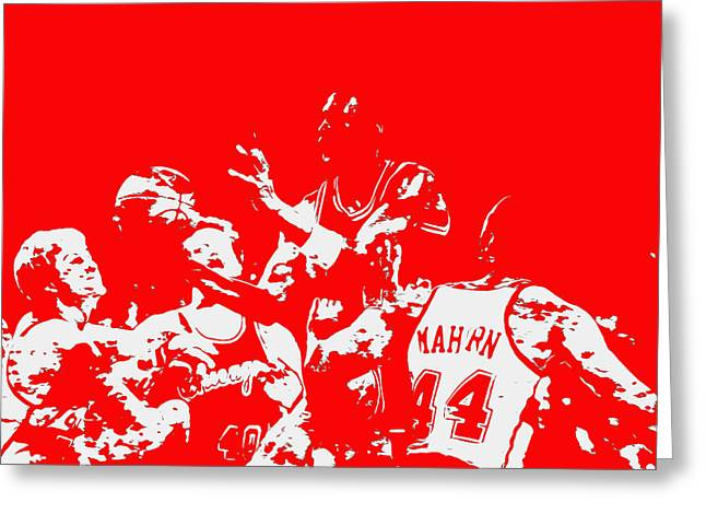 Michael Jordan Style And Grace 2 Greeting Card by Brian Reaves