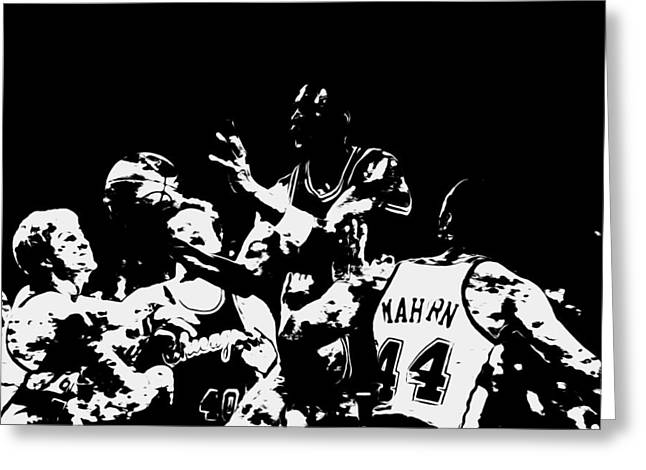 Michael Jordan Style And Grace Greeting Card by Brian Reaves