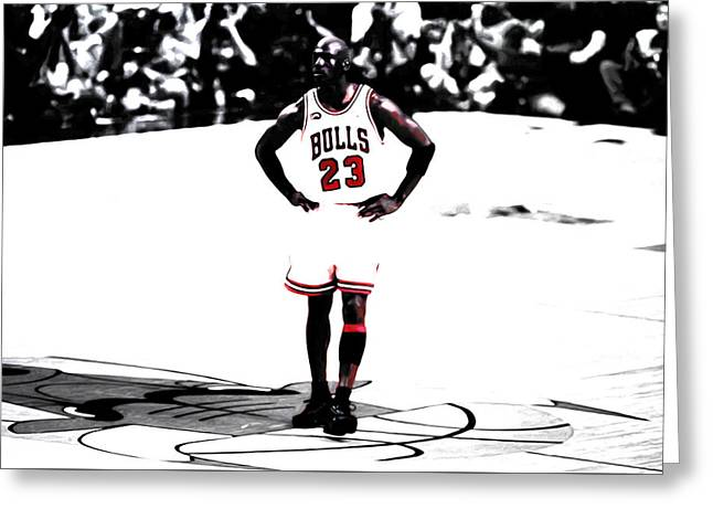 Michael Jordan The One Man Show Greeting Card by Brian Reaves