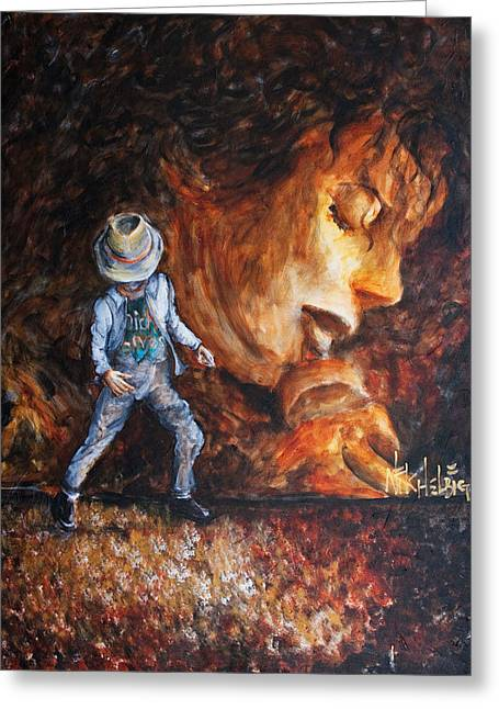 Michael Jackson Greeting Cards - Michael Lives Greeting Card by Nik Helbig