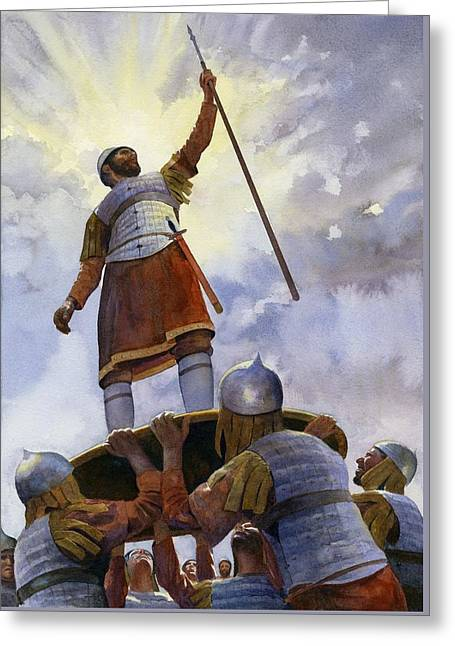 Roman Soldier Greeting Cards - Michael Palaeologus Greeting Card by Rob Wood
