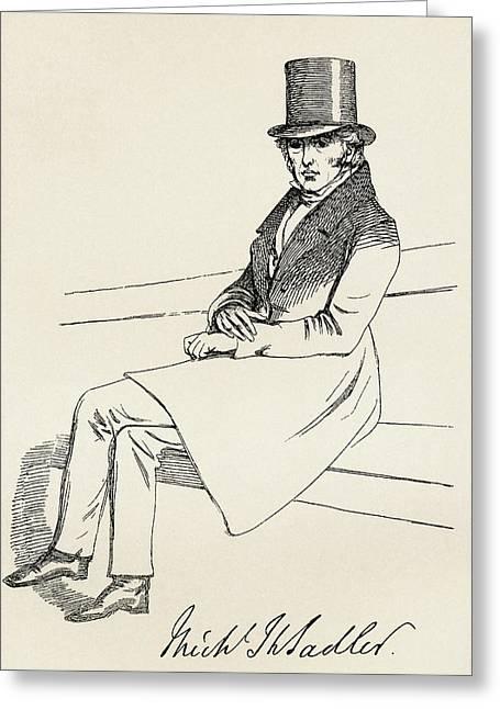Reform Drawings Greeting Cards - Michael Thomas Sadler, 1780 Greeting Card by Vintage Design Pics