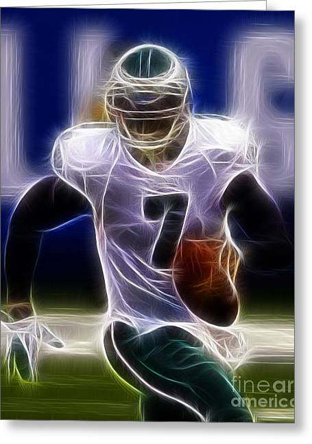 Michael Photographs Greeting Cards - Michael Vick - Philadelphia Eagles Quarterback Greeting Card by Paul Ward