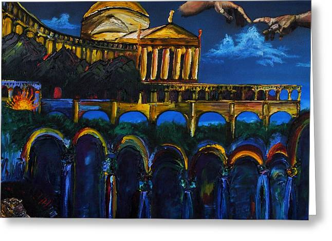 Michaelangelo Arches Vatican Greeting Card by Gregory Allen Page