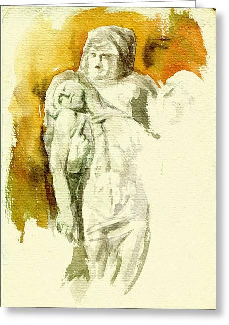 Buonarotti Greeting Cards - Michaelangelos Palestrina Pieta Greeting Card by Andrew Taylor
