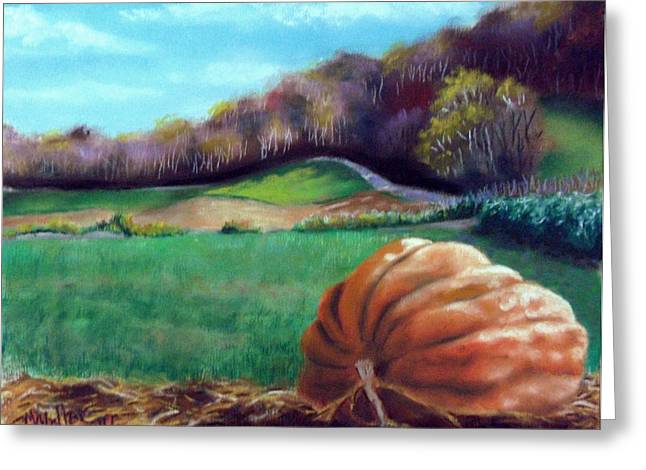 Pastoral Scene Pastels Greeting Cards - Michaels Great Pumpkin Greeting Card by Marcus Moller