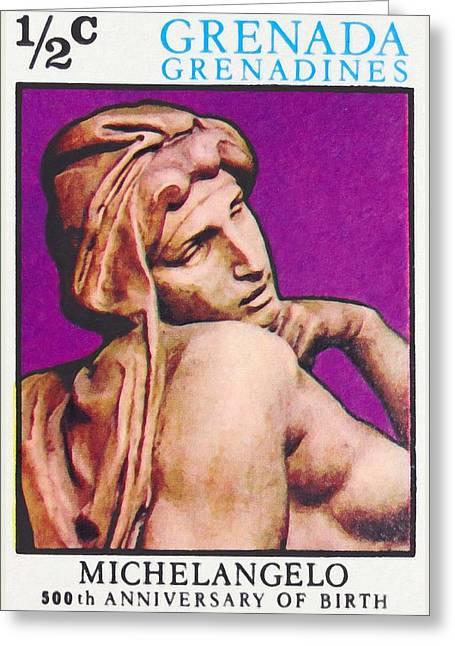 Michelangelo Greeting Cards - Michelangelo Buonarroti Greeting Card by Lanjee Chee