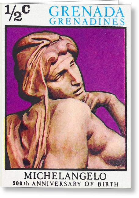Buonarroti Photographs Greeting Cards - Michelangelo Buonarroti Greeting Card by Lanjee Chee