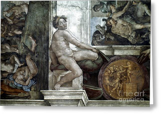 Michelangelo Greeting Cards - Michelangelo: Idol Greeting Card by Granger