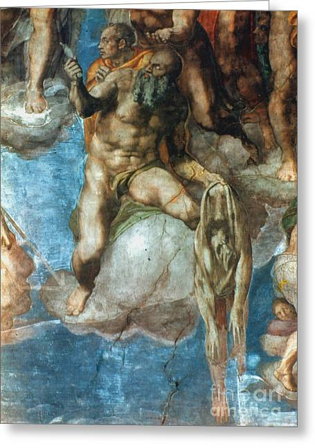 Sistine Paintings Greeting Cards - Michelangelo: St. Barth Greeting Card by Granger