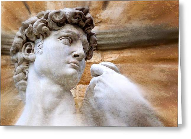 Wall Art Sculptures Greeting Cards - Michelangelos David 2  Greeting Card by Jen White