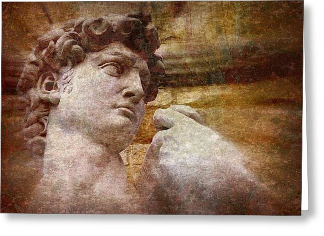 Wall Art Sculptures Greeting Cards - Michelangelos David Greeting Card by Jen White