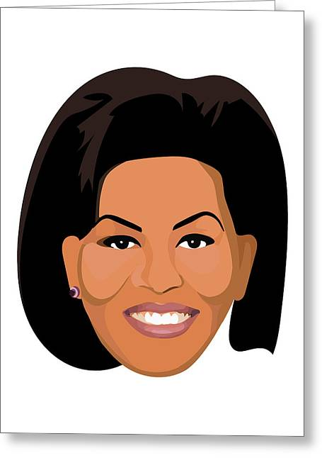 Michelle Obama  Greeting Card by Lauren Amelia Hughes